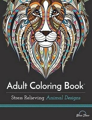 Adult Coloring Book: Stress Relieving Animal New Designs Moods 2015 New