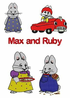 MAX and RUBY Machine Embroidery Design SET