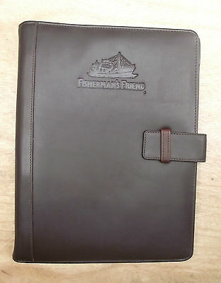 A4 leather folder with Fisherman's Friend logo(style 230)