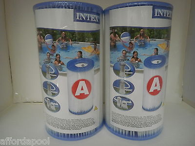 Intex Type A Pool Filter TWIN PACK. Also replacement for Type 3 / Type III