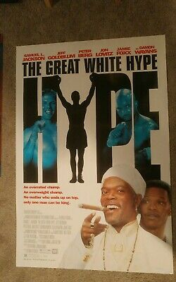 The Great White Hype (1996) Original Movie Poster 27x40 Samuel L Jackson