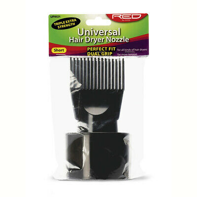 Red By Kiss Universal Hair Dryer Nozzle Attachment Short Comb Brush Pik Upik01