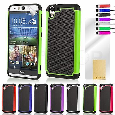 NEW SHOCK PROOF CASE COVER FOR HTC Desire 610 & EYE  + SCREEN GUARD & STYLUS