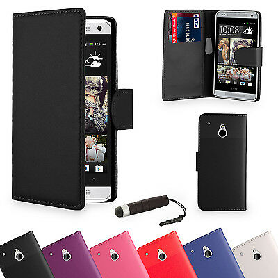 NEW Wallet PU LEATHER CASE COVER FOR HTC ONE M7 /M8/Mini/Max SCREEN PROTECTOR
