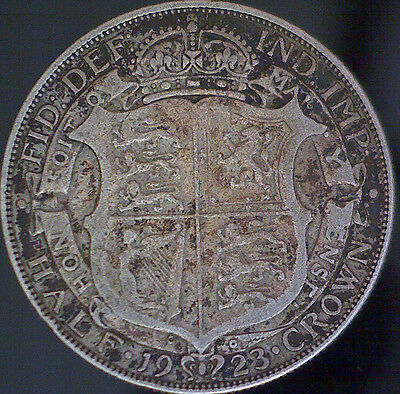 1923 George The 5Th Silver Half Crown