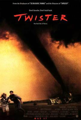 Twister (1995) Original Movie Poster 27x40 Helen Hunt Bill Paxton Double Sided