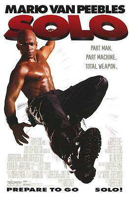 Solo (1996) Original Movie Poster 27x40 Mario Van Peebles Double Sided