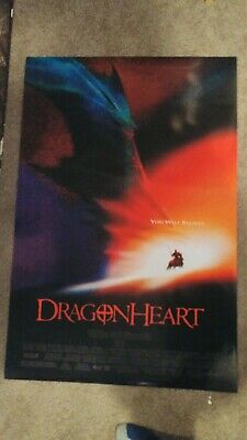 Dragonheart Original Movie Poster 27x40 Double Sided Sean Connery