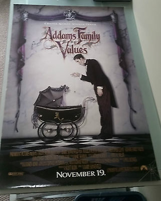 Addams Family Values Original Movie Poster 27x40 Coming Soon