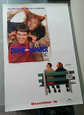 Dumb and Dumber Movie Poster 27x40 Jim Carrey Jeff Daniels Coming Soon