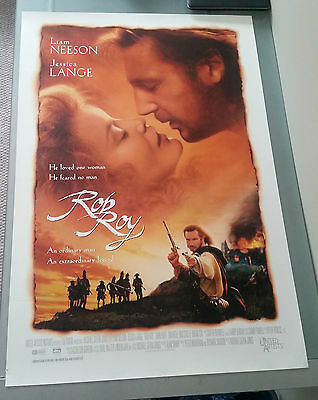 Rob Roy Movie Poster 27x40 Liam Neeson Jessica Lange