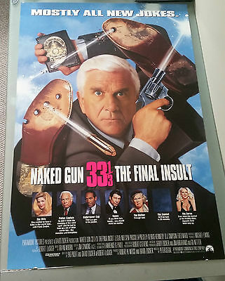 Naked Gun 33 1/3rd Movie Poster 27x40 Leslie Nielsen Comedy