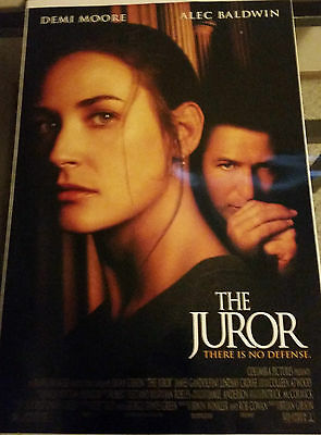 The Juror Original Movie Poster 27x40 (1996) Alec Baldwin Demi Moore DoubleSided
