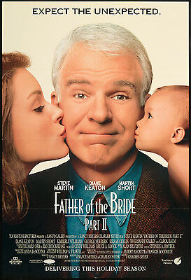 Father Of The Bride 2 (1995) Original Movie Poster 27x40 DS Steve Martin