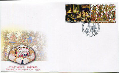 Thailand Stamp 2016 Thailand - Indonesia Joint Issue Fdc