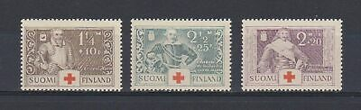 A4659) FINLAND 1934 Scott#B15-17 Red Cross  MNH**