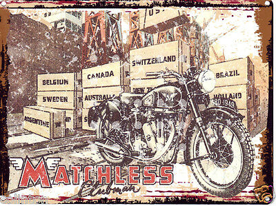 MATCHLESS CLUBMAN MOTORCYCLE SIGN VINTAGE STYLE 20x25cm8x10in pub bar shop cafe
