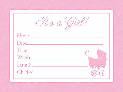 Its a Girl  Birth Announcements From the Baby Love Collection