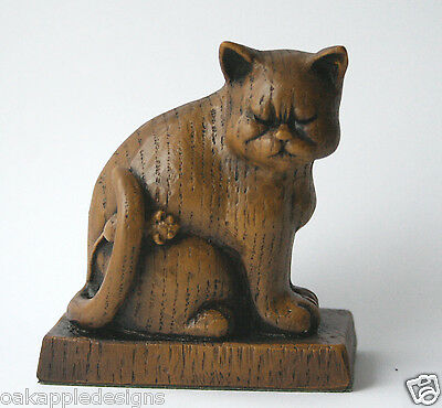 Church Cat with Mouse Collectable Unique Ornament Gift Reproduction Oak Carving.