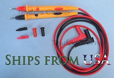 """Quality Replacement Test Leads/Probes for Fluke & Other Multimeters 42"""" Long"""