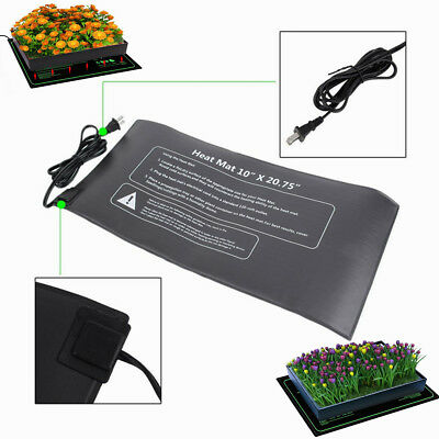 "Plant Seedling Heat Mat 10""x20"" Seed Starter Pad Germination Propagation Clone"