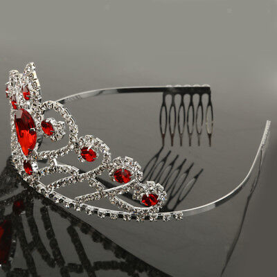 Wedding Women Girl Prom Crown Crystal Rhinestone Headband Tiara Headpiece