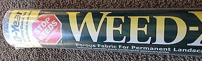 WEED-X 3-Foot by 60-Foot 20-Year Weed Barrier  Fabric Dallen Products