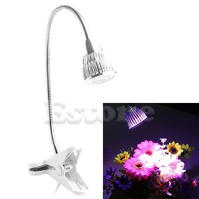 15W LED Grow Light Full Spectrum Hydroponic Indoor Plant Flexible Clip On Lamp