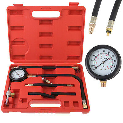 Car Fuel Injection Pump Injector Spray Tester Pressure Gauge Test Set With Case