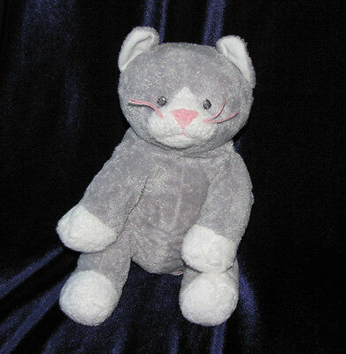 Ty Pluffies Gray Cat Pursley Grey Plush Beanie Baby Stuffed Animal Toy 2008