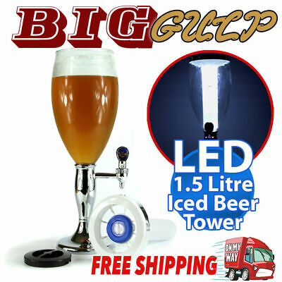Beer Tower Dispenser W Led Ice Tube Juice Fountain Party *1.5 Litre*vb Carlton W