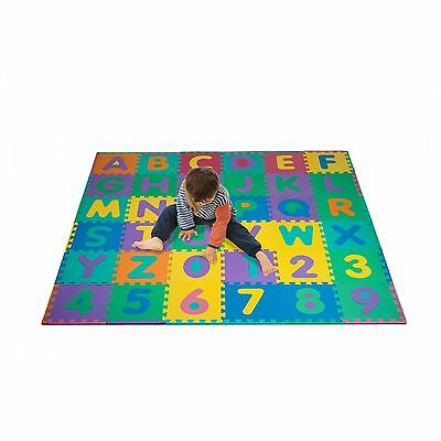 Foam Floor Alphabet and Number Puzzle Mat for Kids 96-Piece New