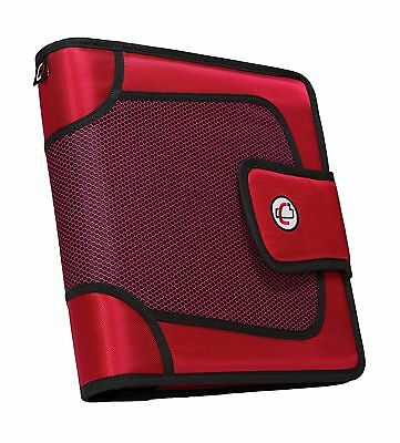 Case-it Open Tab Velcro Closure 2-Inch Binder with Tab File Red S-816-RED New