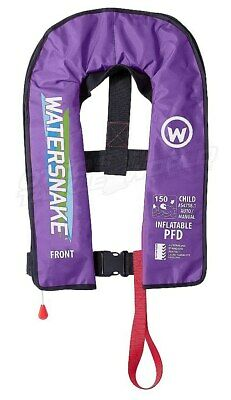 Watersnake Children's Inflatable Life Jacket in Purple BRAND NEW at Otto's