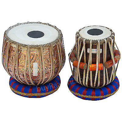 Tabla Set Floral Design|Maharaja|Copper Bayan 3Kg|Sheesham Dayan|Indian|Bag-Eb-2