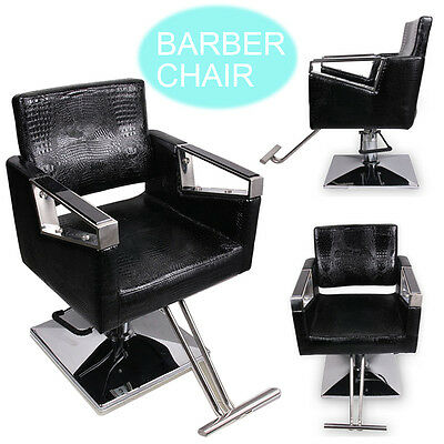Black Comfy Hydraulic Salon Barber Hairdressing Chair Styling Beauty Shaving