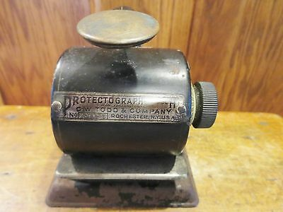 Protectograph Model H Todd Manufacturing Check Punch Writer Model # 194574 VTG