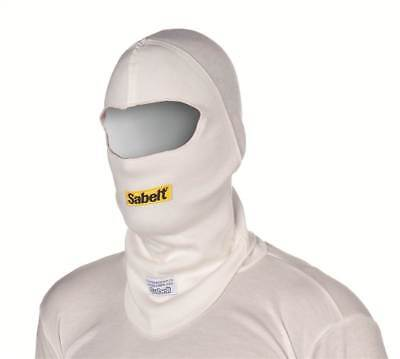 Sabelt UI-100 Open Face Nomex Fireproof Balaclava FIA Approved White Race/Rally
