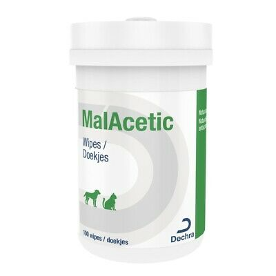 Malacetic Cleansing Wet Wipes for Dogs / Dry Bath - 100 wipes