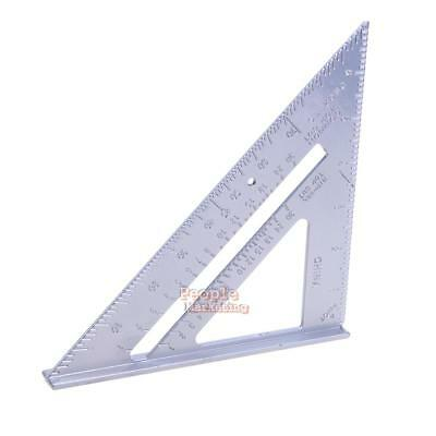 "7"" Aluminum Alloy Square Angle Measuring Tool Roofing Triangle Measure Guide New"