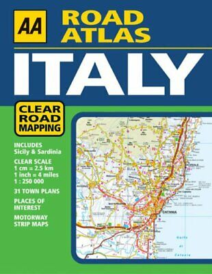 AA Road Atlas Italy 2005 Paperback Book The Cheap Fast Free Post