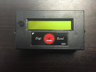 Digi-Read Remote LCD Counter Indoors or Outdoors Works w/ Pulse or Encoder Meter