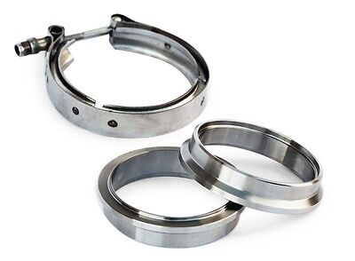 """Yonaka 3"""" V-Band Flange Clamp Assembly Kit 304 Stainless Steel Male Female Set"""
