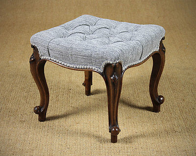 Antique Walnut Dressing Stool c.1870.