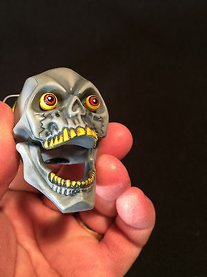 RARE NOS New Old Stock Skull jaw moves Car or Truck Antenna Topper w/flames