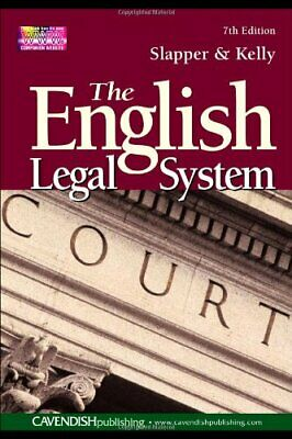 English Legal System by Kelly, David Paperback Book The Cheap Fast Free Post