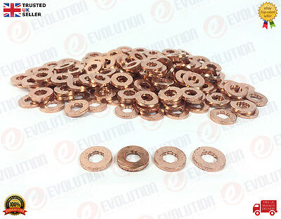 4X Ford Fiesta Mk5 1.4 Tdci Injector Copper Washer / Seals 2S6Q 9E568 Ab