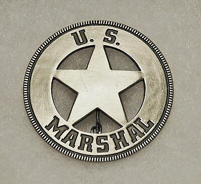 US Marshal Old West Replica Lawman Badge Deputy Sheriff Police PH020