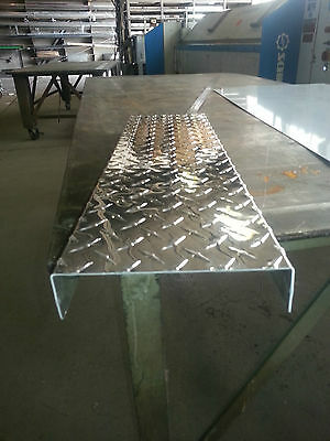 ".063 Aluminum Diamond Plate Channel 1"" x 3"" x 1"" x 96"""