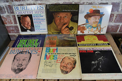 Lot of 9 Burl Ives Collection LP Vinyl Signed/Autograph Records
